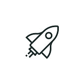 istock Start Up Line Icon 1069730414