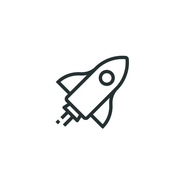 Start Up Line Icon Start Up Line Icon rocket stock illustrations
