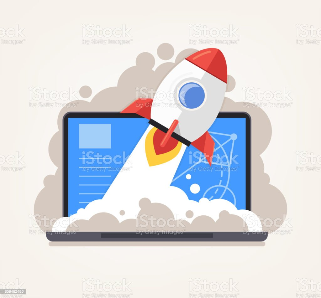 Start up new project concept vector art illustration
