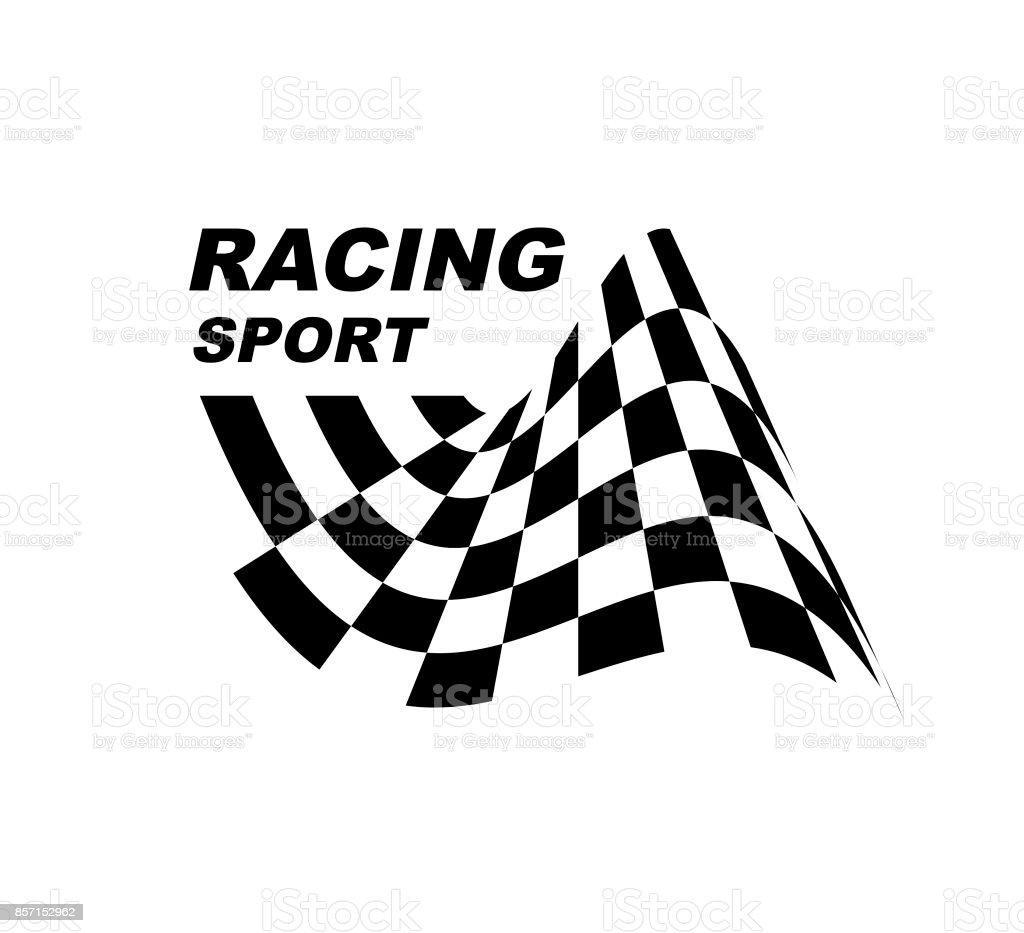 Start und Ziel Flaggen. Auto-Moto-Racing. Karierte Flagge... – Vektorgrafik