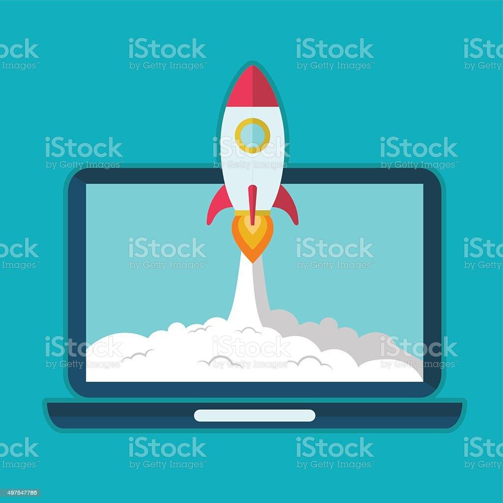 Startup and Development concept. flat design elements. vector illustration vector art illustration