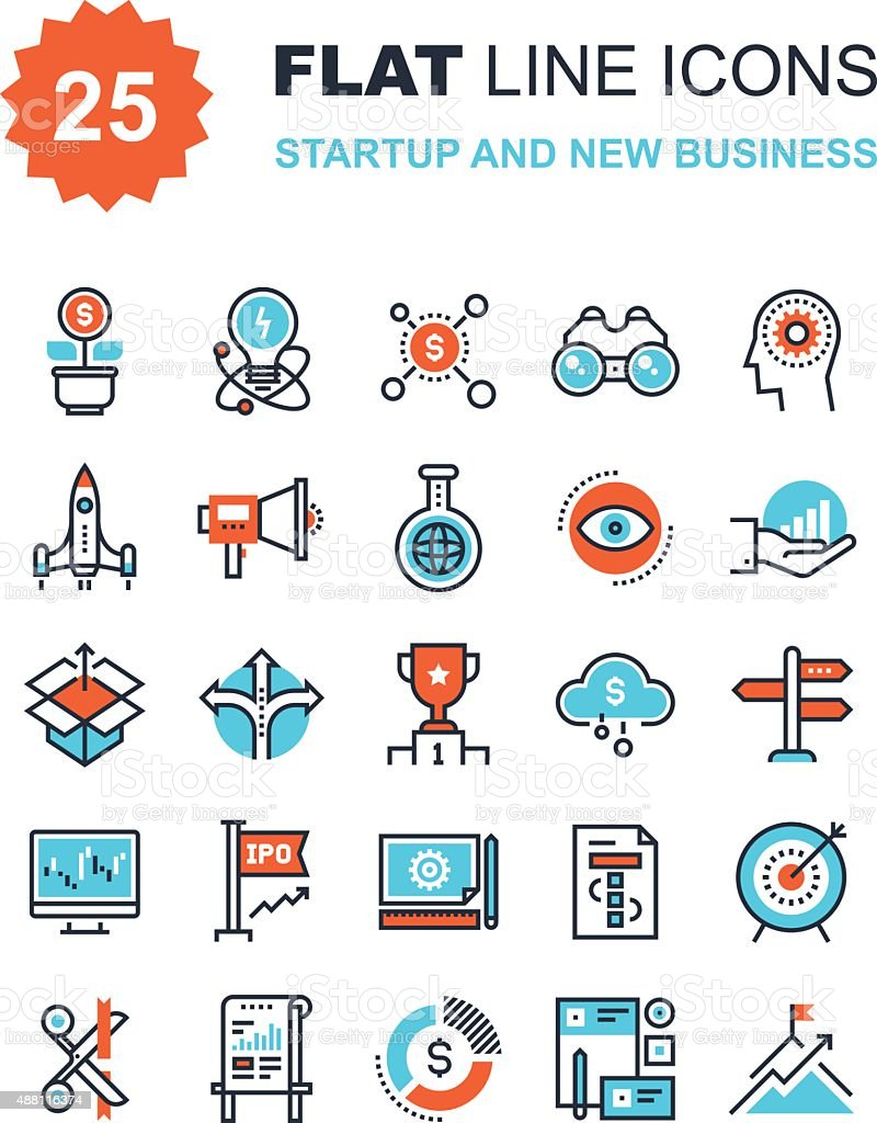 Startup and New Business vector art illustration