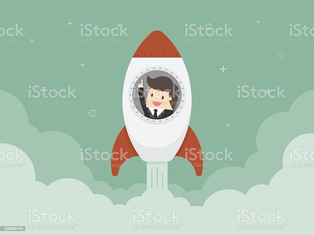 Startup Business vector art illustration