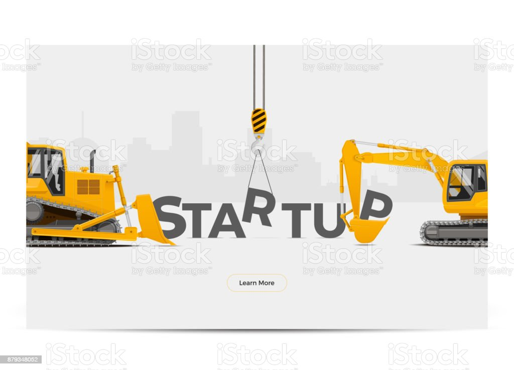 Startup Creation Building Construction Development. Vector Illustration. vector art illustration