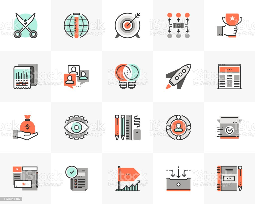 Startup Development Futuro Next Icons Pack royalty-free startup development futuro next icons pack stock illustration - download image now