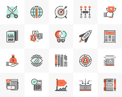 Startup Development Futuro Next Icons Pack - Stockowe grafiki wektorowe i więcej obrazów Aspiracje