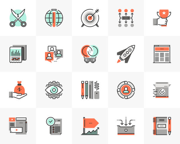 start-up-entwicklung futuro next icons pack - all vocabulary stock-grafiken, -clipart, -cartoons und -symbole