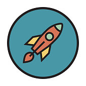 Startup Flat Line Icon