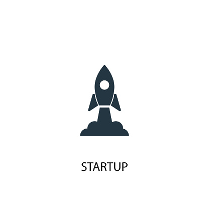 Startup icon. Simple element illustration