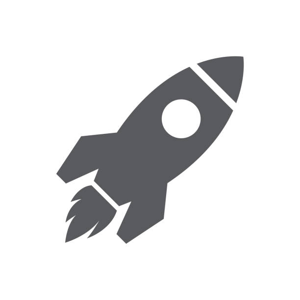 Startup Icon Business - Startup Icon rocket stock illustrations