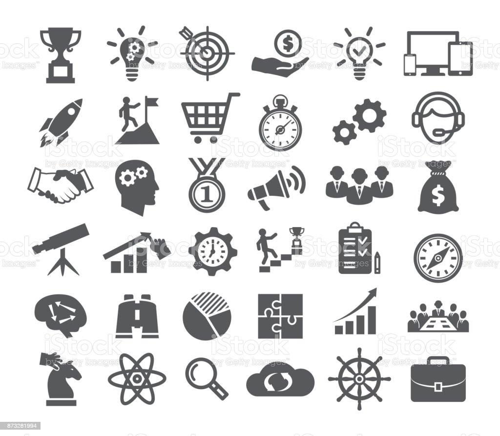 Conjunto de ícones de inicialização - ilustração de arte em vetor