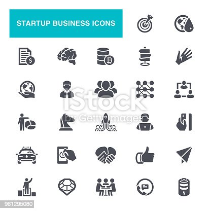 Flow Chart, Business Meeting, Startup, Presentation, Icon Set