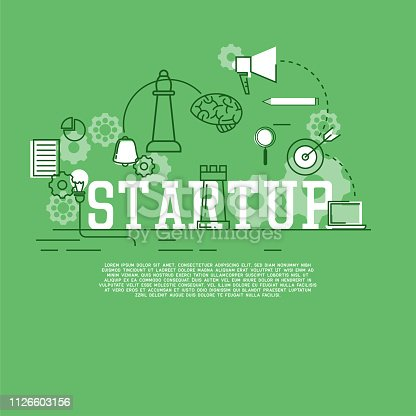 istock startup new business banner for your new business. vector illustration 1126603156