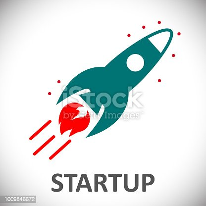 Startup, rocket concept – for stock