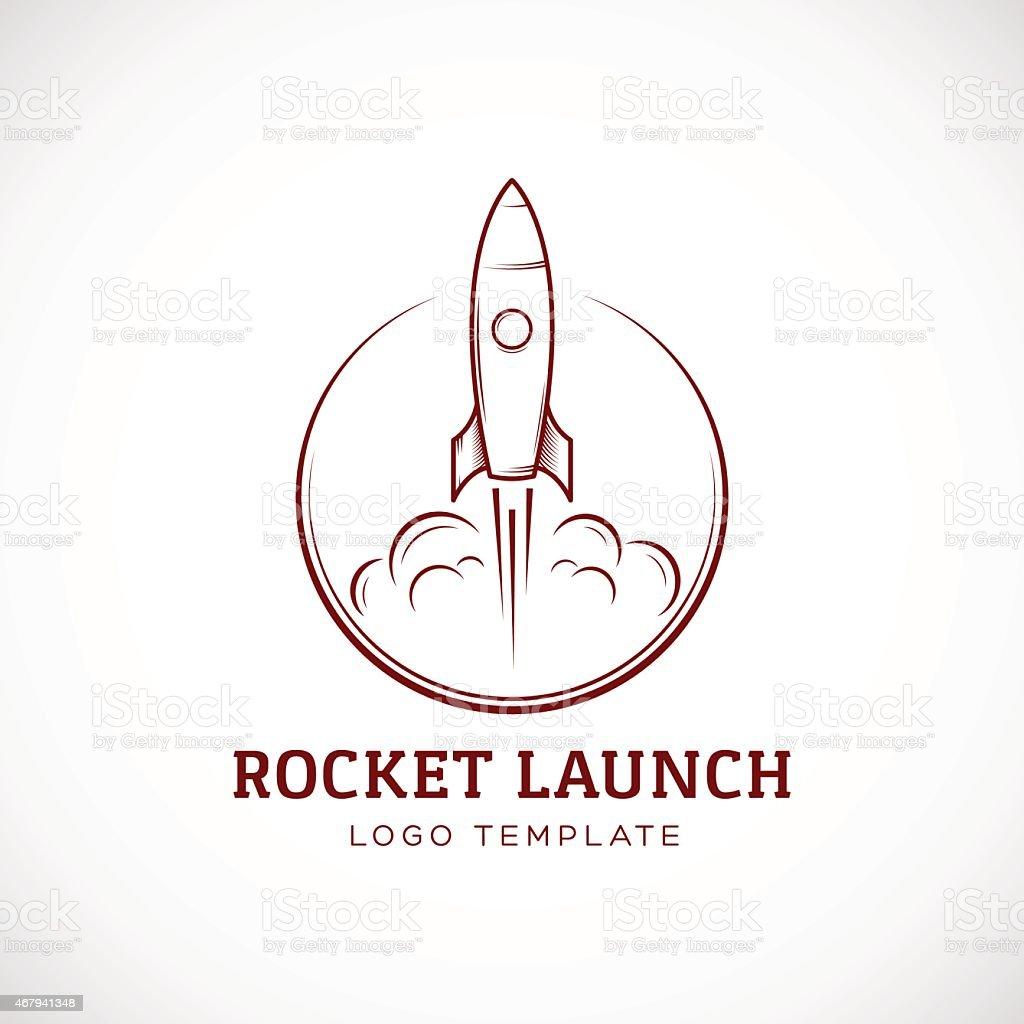 Ilustración de Barco Arranque Rocket Espacio Abstracto Vector Logo ...