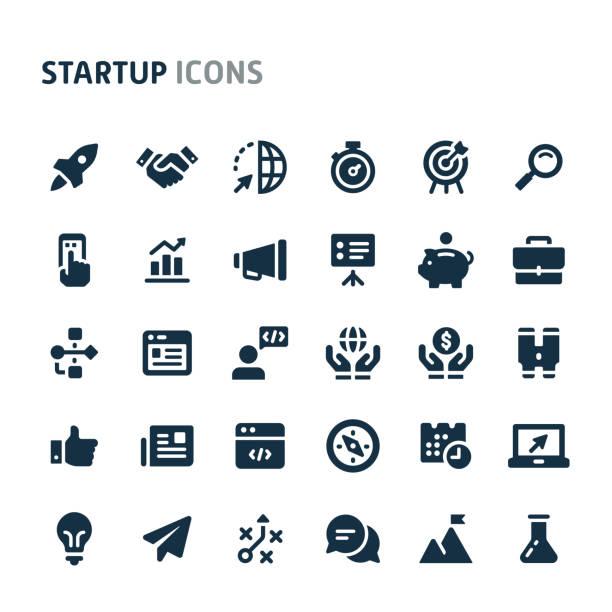 ilustrações, clipart, desenhos animados e ícones de jogo do ícone do vetor da partida. série preta do ícone de fillio. - startup