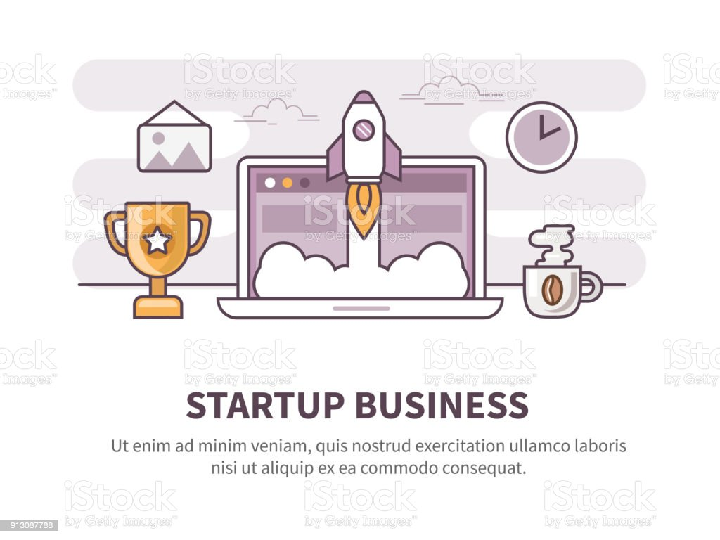 startup vector art illustration