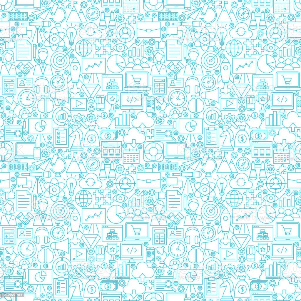 Startup White Seamless Pattern vector art illustration