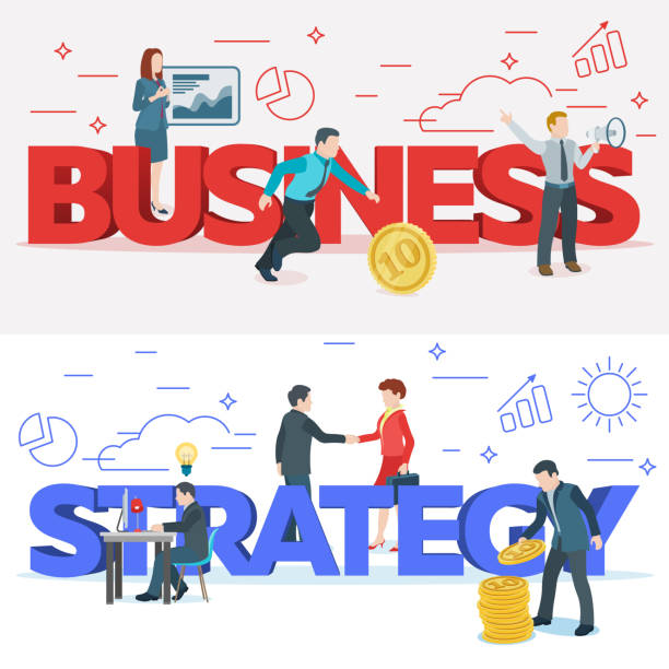Startup work moments. Business process and project management. The presentation, search for investor, promotion. The woman at the blackboard with infographics. Veсtor illustration. vector art illustration