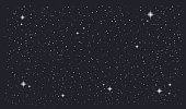 Stary night sky horizontal background. Vector illustration