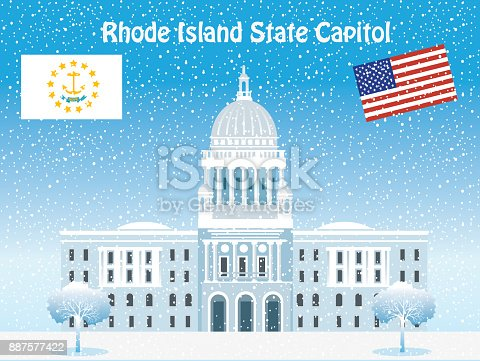 Vector State Capitol (Rhode Island)