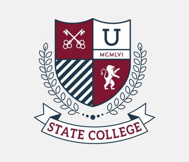 illustrazioni stock, clip art, cartoni animati e icone di tendenza di chiavi del college statale per la conoscenza - scuola