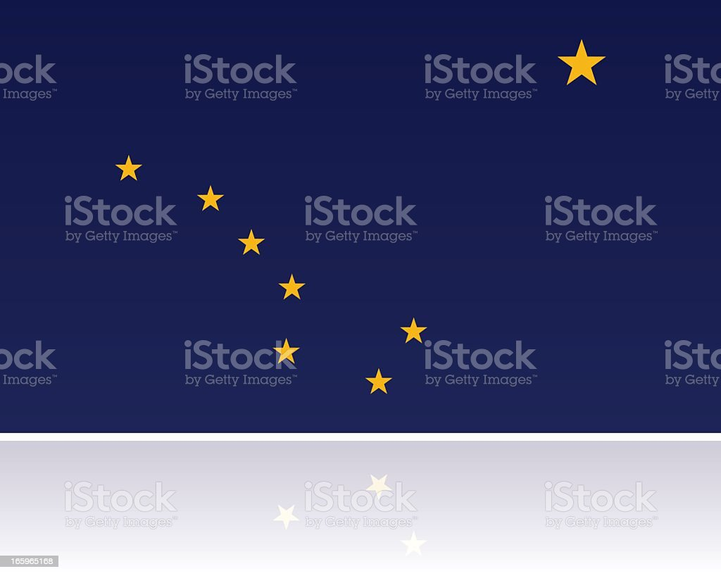 US State Flag: Alaska vector art illustration