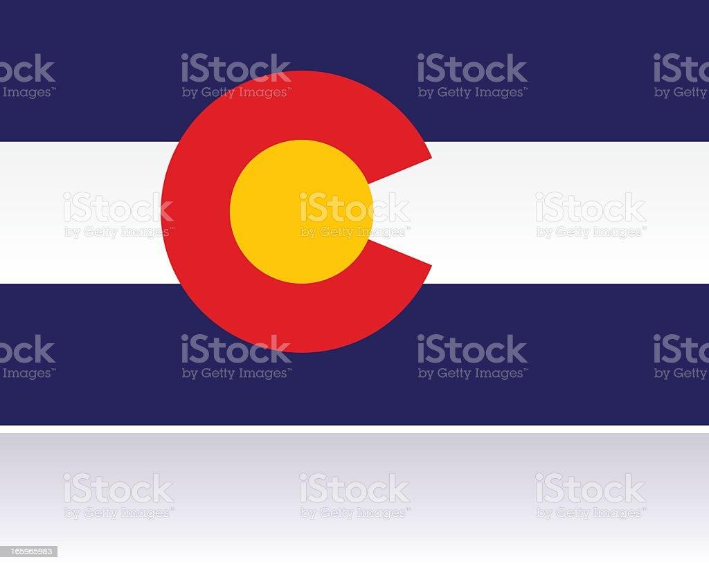 Bandeira dos estados americanos: Colorado - ilustração de arte em vetor