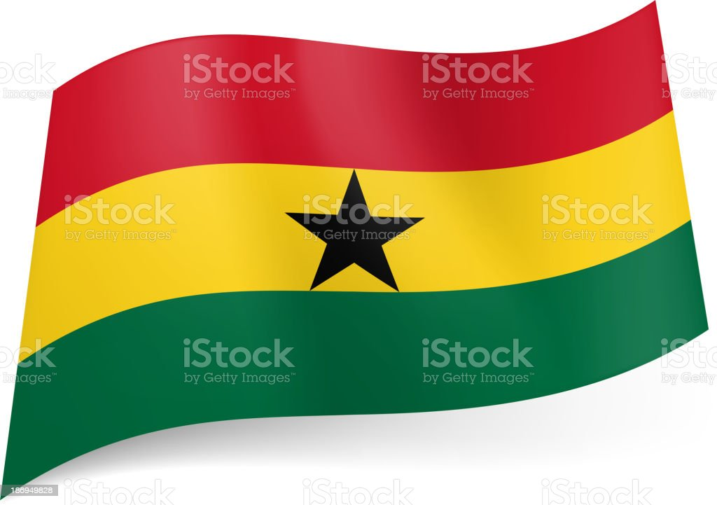 State flag of Ghana. royalty-free stock vector art