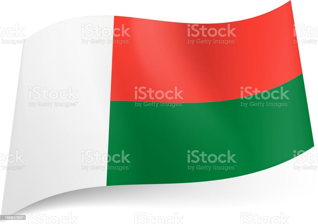 State flag of Madagascar. royalty-free stock vector art