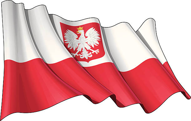 state flag of poland - polish flag stock illustrations, clip art, cartoons, & icons