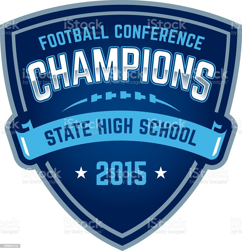 State high school football championship badge royalty-free state high school football championship badge stock vector art & more images of 2015