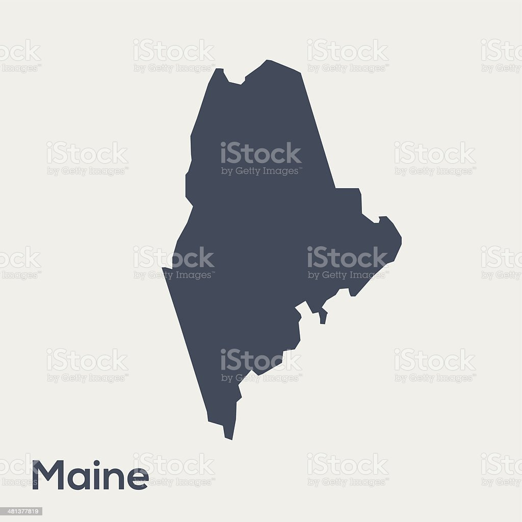 USA state Maine vector art illustration