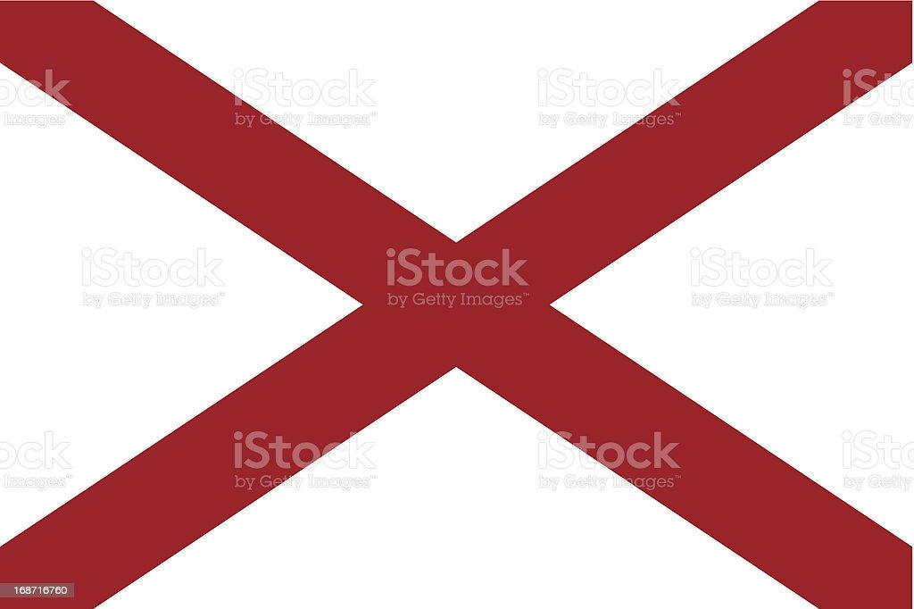 Bandeira do estado do Alabama - ilustração de arte em vetor