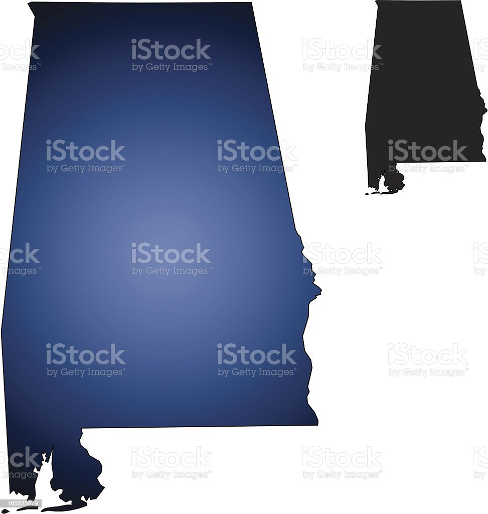 State of Alabama royalty-free stock vector art