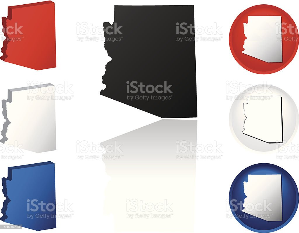 State of Arizona Icons royalty-free stock vector art