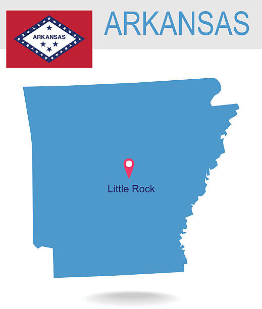 Little Rock Arkansas Clip Art Vector Images Illustrations IStock - Little rock usa map