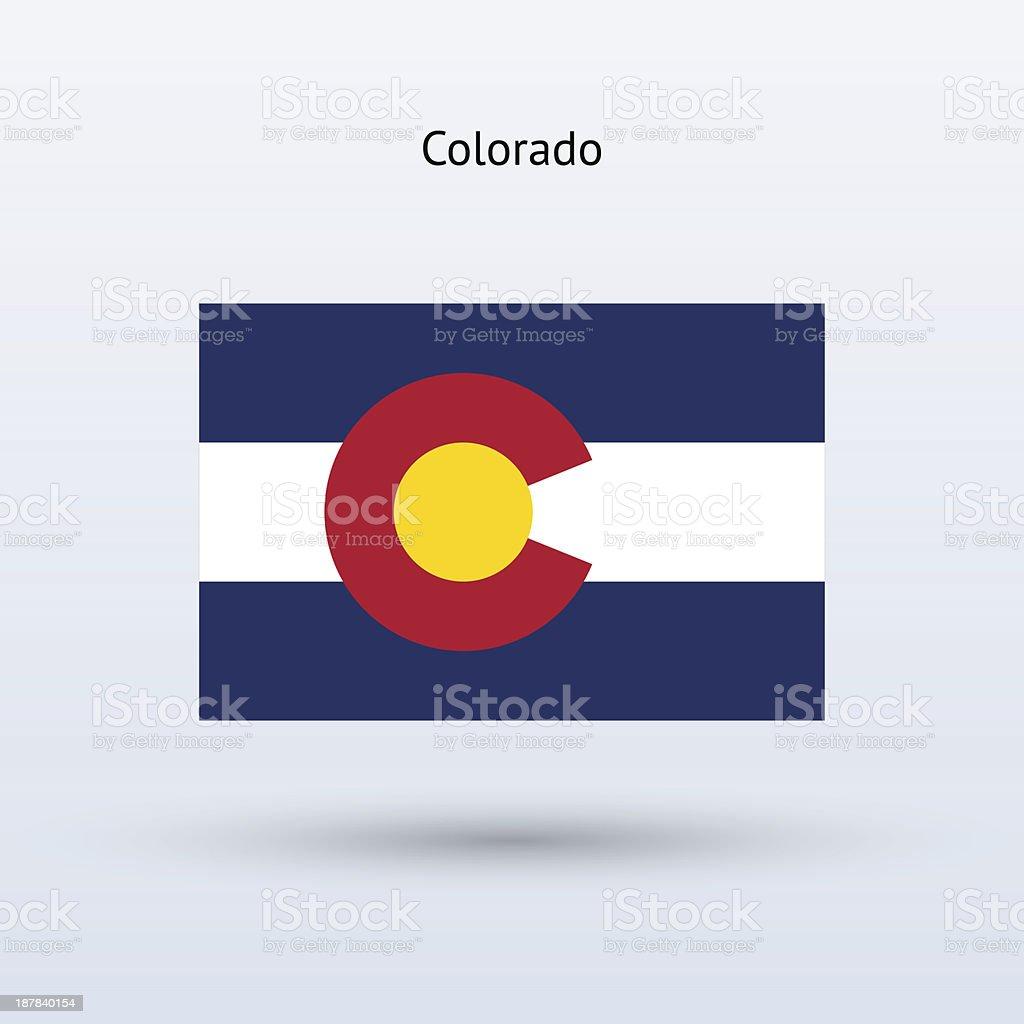 Bandeira do estado do Colorado - ilustração de arte em vetor
