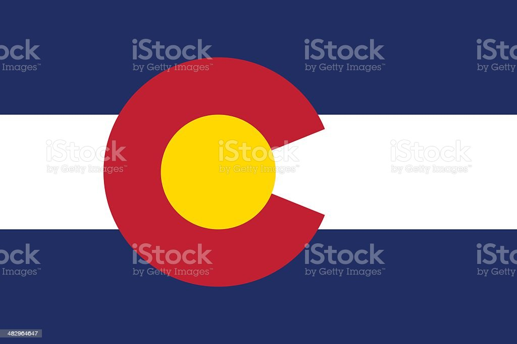 State of Colorado Flag vector art illustration