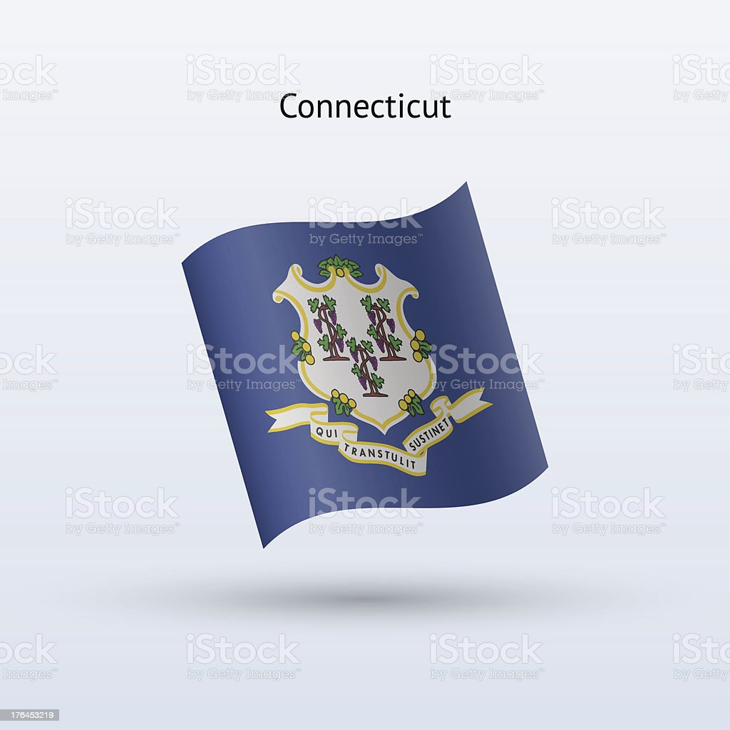 State of Connecticut Flag royalty-free stock vector art