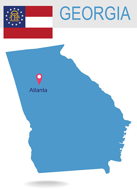 Georgia Us State Clip Art Vector Images Illustrations IStock - Atlanta georgia us map