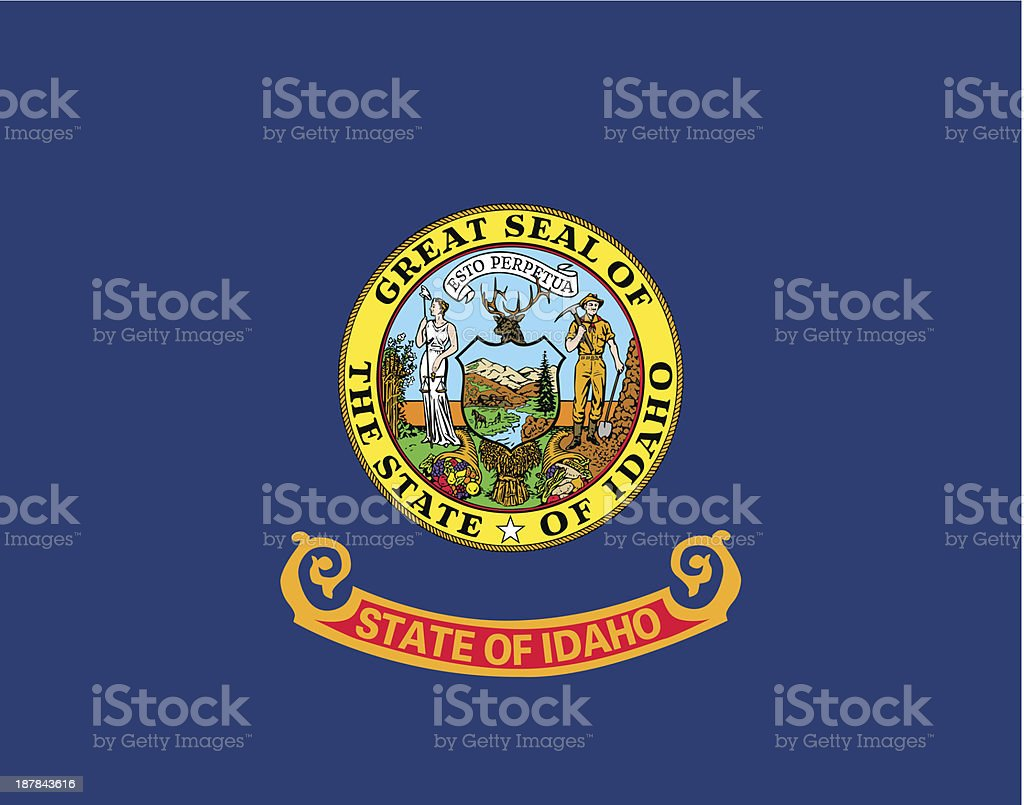 State of Idaho Flag royalty-free state of idaho flag stock vector art & more images of clip art