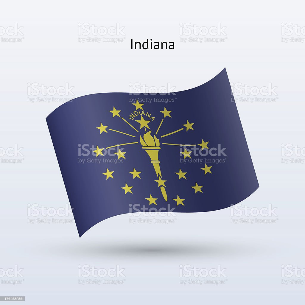 State of Indiana Flag royalty-free stock vector art