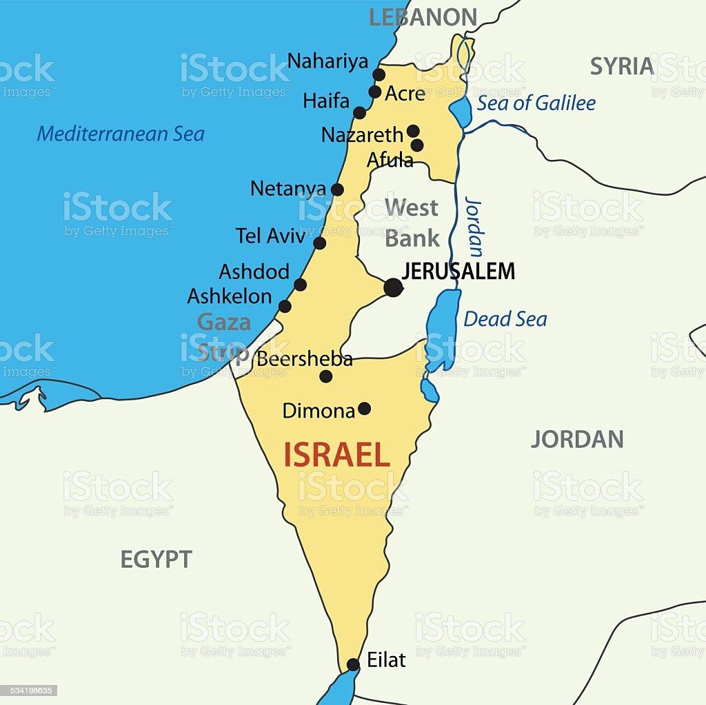 State of Israel - vector map vector art illustration