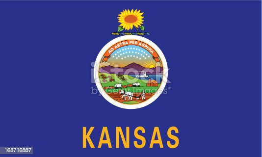 istock State of Kansas Flag 168716887