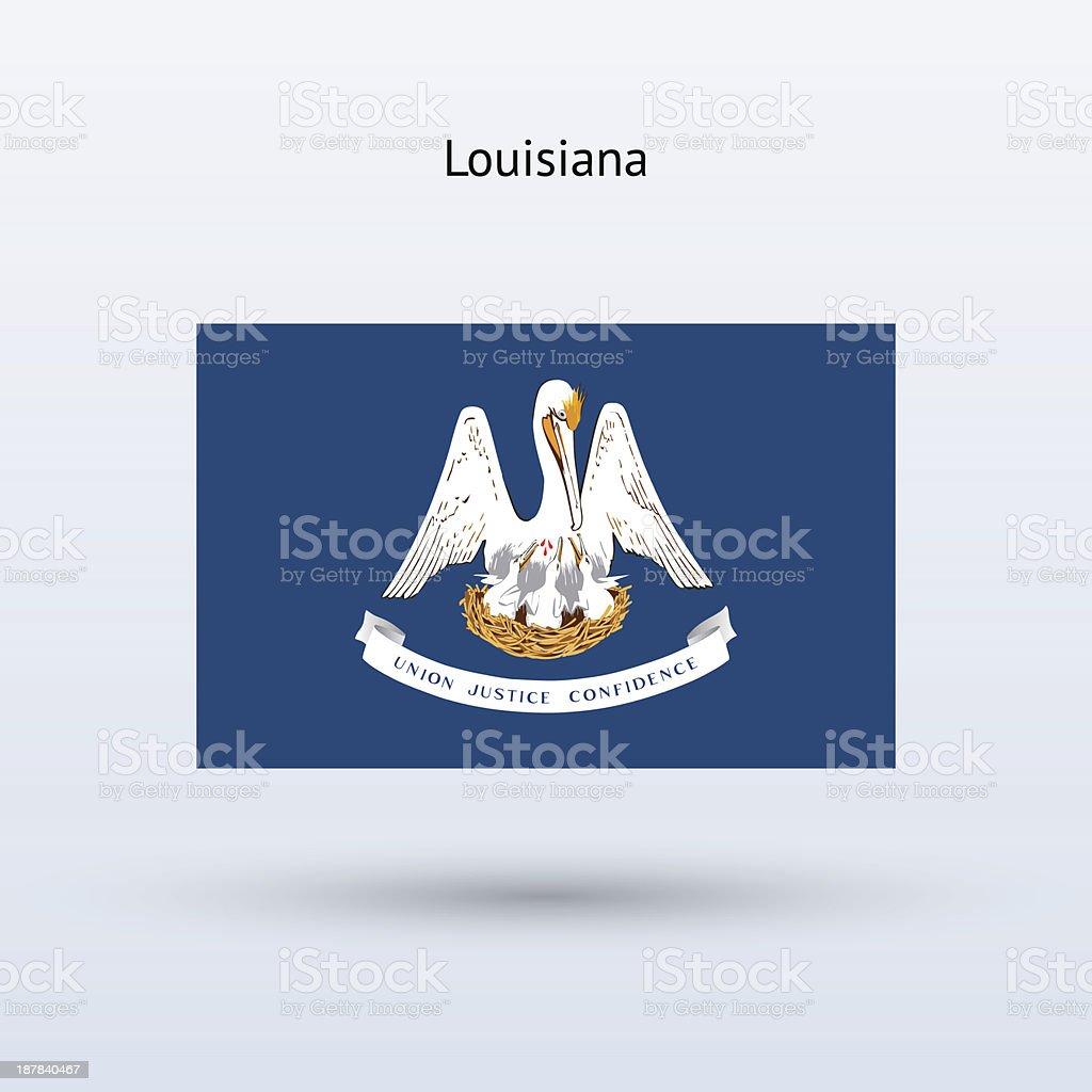 Bandeira do Estado da Louisiana - ilustração de arte em vetor