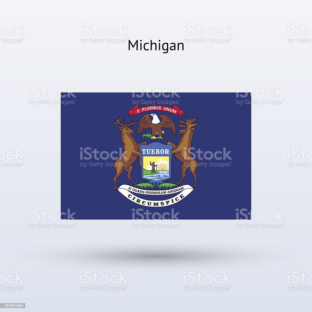 Ilustración de Bandera Del Estado De Michigan y más banco de ...