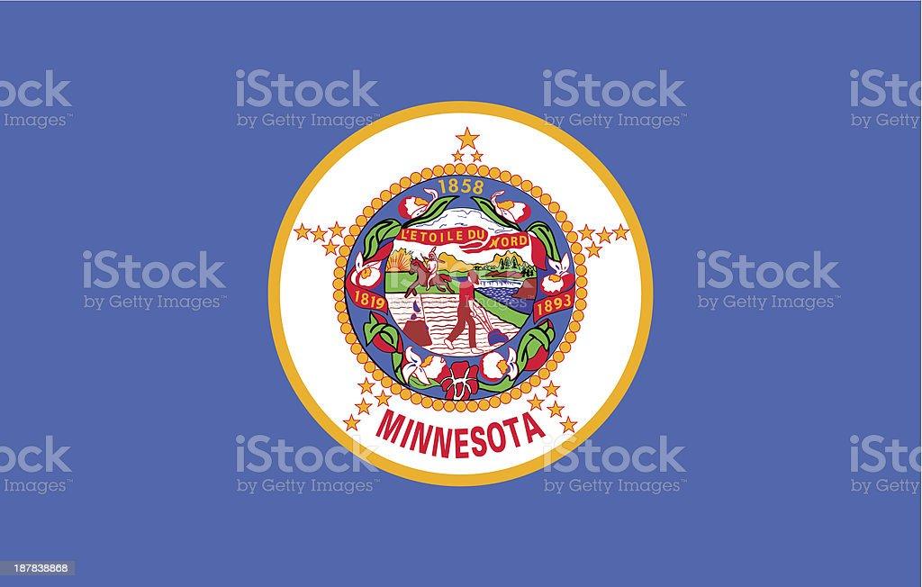 State of Minnesota Flag vector art illustration