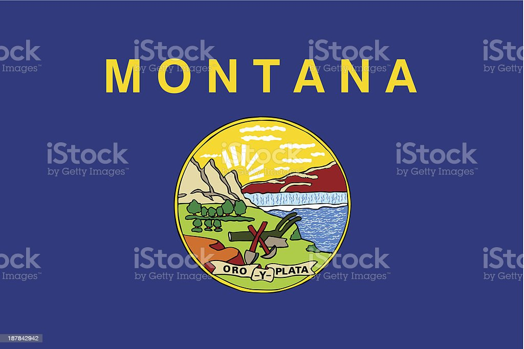 State of Montana Flag royalty-free stock vector art