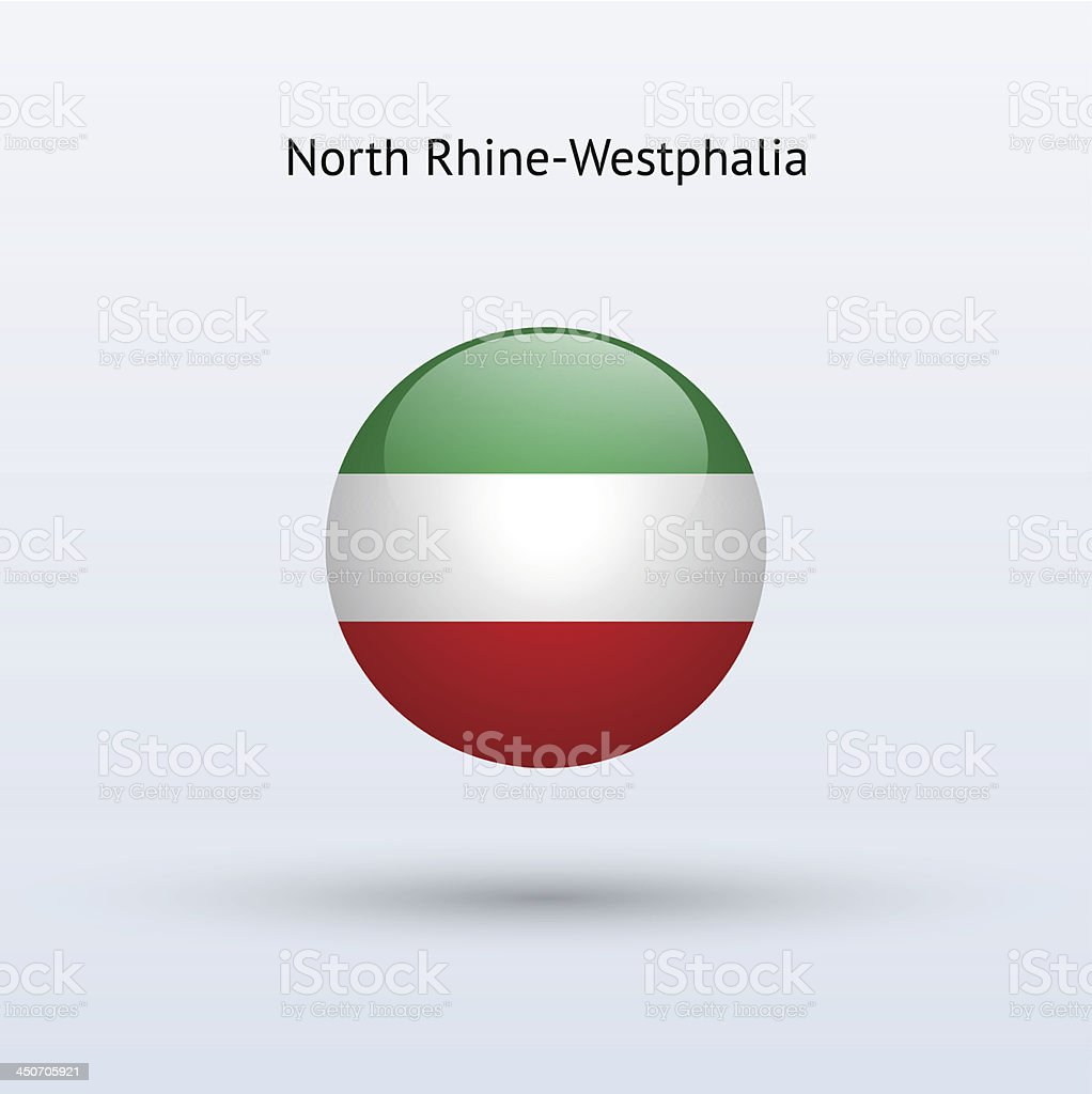 State of North Rhine-Westphalia Flag (Germany) vector art illustration
